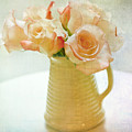 Roses In A Vase Still Life by Lynne Daley