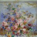 Roses In A Window by Pierre Auguste Renoir