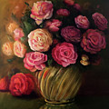 Roses In Brass Bowl by Marlene Book
