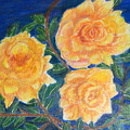 Roses In Yellow by Silvia Roberts
