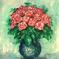 Roses Oil Painting  by Natalja Picugina