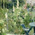 Roses Tremieres by Berthe Morisot