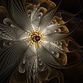 Rosette In Gold And Silver by Amanda Moore