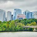 Rosslyn Distric Arlington Skyline Across River From Washington D by Alex Grichenko