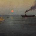 Rosy Moon Off Charleston Harbor by Lowell Birge Harrison