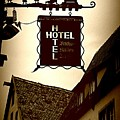 Rothenburg Hotel Sign - Digital by Carol Groenen
