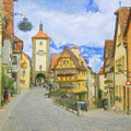 Rothenburg Watercolor Study by Paul Gioacchini