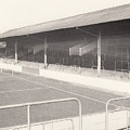 Rotherham - Millmoor - Railway End 1 - Bw - April 1970 by Legendary Football Grounds