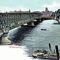 Rotterdam Oude Willemsbrug 1890 by Heidi De Leeuw