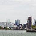 Rotterdam Skyline With Euromast  by Compuinfoto