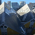 Rotterdam - The Cube Houses And Skyline by Carlos Alkmin
