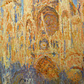 Rouen Cathedral, Facade, Sunset by Claude Monet