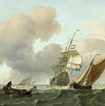 Rough Sea With Ships by Ludolf Bakhuysen