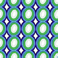Round And Round Blue And Green- Art By Linda Woods by Linda Woods