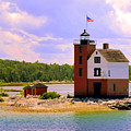 Round Island Lighthouse by Betsy Foster Breen