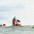 Round Island Lighthouse by Susan Mahoney