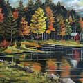 Round Pond Newbury Vermont Plein Air by Nancy Griswold