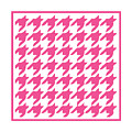 Rounded Houndstooth With Border In French Pink by Custom Home Fashions