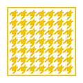 Rounded Houndstooth With Border In Mustard by Custom Home Fashions