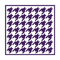 Rounded Houndstooth With Border In Purple by Custom Home Fashions