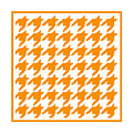 Rounded Houndstooth With Border In Tangerine by Custom Home Fashions