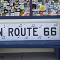 Route 66 Bench by Bob Christopher