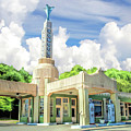 Route 66 Conoco Tower Station by Christopher Arndt