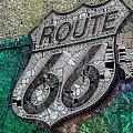 Route 66 Digital Stained Glass by Mo Barton