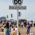 Route 66 - End Of The Trail Santa Monica Pier by Gene Parks