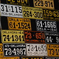 Route 66 Oklahoma Car Tags by Susanne Van Hulst