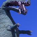 Route 66 Roadside Dinosaur by Garry Gay