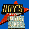Route 66 Roy's Motel Cafe Sign by Gigi Ebert