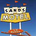 Route 66 Sands Motel Vintage Sign by Gigi Ebert