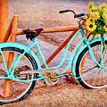 Route 66 Vintage Bicycle by Priscilla Burgers