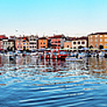 Rovinj Harbor And Boats Panorama by Global Light Photography - Nicole Leffer