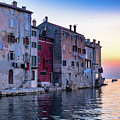 Rovinj Old Town On The Adriatic At Sunset by Global Light Photography - Nicole Leffer