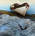Row Boat On Shore by Jill Battaglia