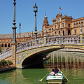 Row Boating In Seville by Carlos Caetano