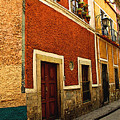 Row Of Casas Guanajuato by Mexicolors Art Photography