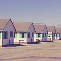 Row Of Vintage 1930s Beach Cottages On Cape Cod by Edward Fielding