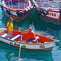 Rowboat In The Harbor At Port Of Valpaparaiso-chile by Ruth Hager