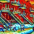 Rowhouses And Hockey by Carole Spandau