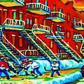Rowhouses And Hockey by Carole Spandau