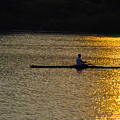 Rowing At Sunset by Bill Cannon