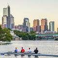 Rowing The Schuylkill - Philadelphia Cityscape by Bill Cannon