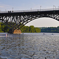 Rowing Under The Strawberry Mansion Bridge by Bill Cannon