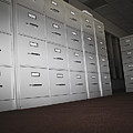 Rows Of Filing Cabinets by Jetta Productions, Inc