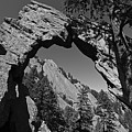 Royal Arch Trail Arch Boulder Colorado Black And White by Toby McGuire