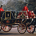 Royal Carriage At Buckingham Palace X by Carl Purcell