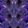 Royal Purple Backbone Fractal Abstract by Rose Santuci-Sofranko